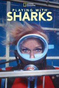 Poster Jugando con tiburones